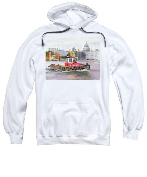 Red Tug Passing St. Pauls, 1996 Sweatshirt