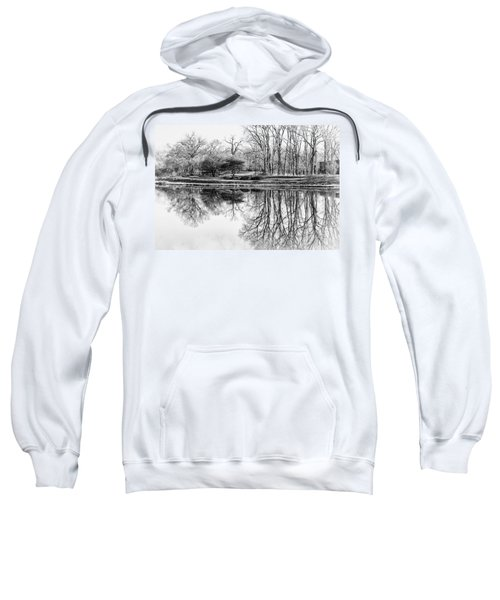 Reflection In Black And White Sweatshirt