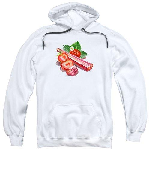 Rhubarb Strawberry Sweatshirt by Irina Sztukowski