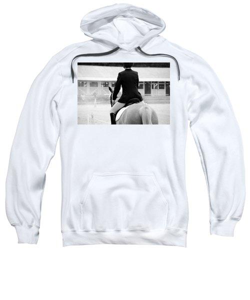 Rider In Black And White Sweatshirt