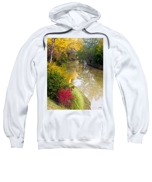 River With Autumn Colors Sweatshirt