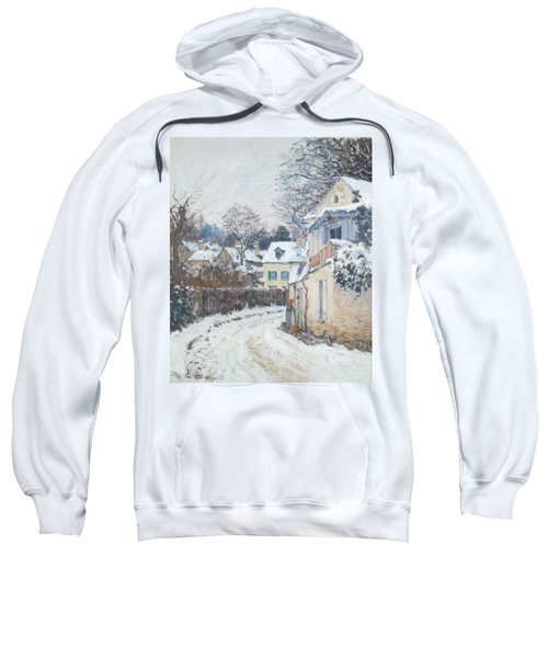 Sweatshirt featuring the painting Road Louveciennes by Alfred Sisley