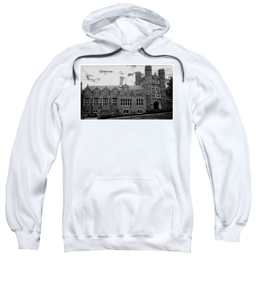 Rockefeller Hall - Bryn Mawr In Black And White Sweatshirt