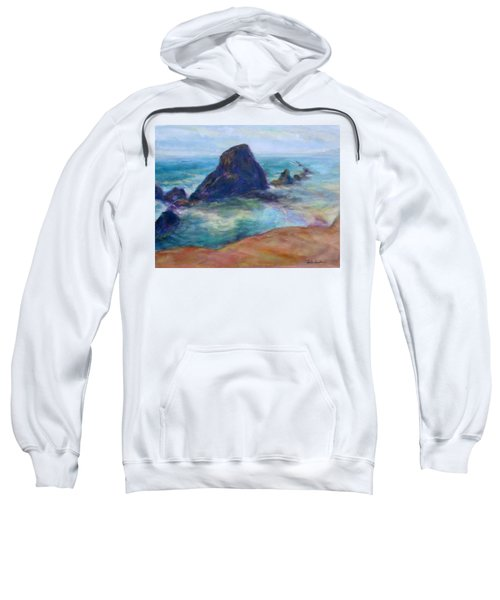 Rocks Heading North - Scenic Landscape Seascape Painting Sweatshirt