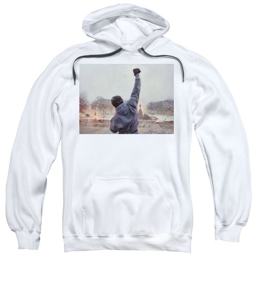 Sweatshirt featuring the painting Rocky Balboa by Dan Sproul