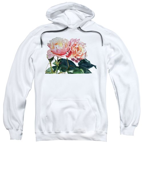 Pink And Yellow Rose Anne Sweatshirt
