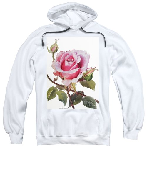Watercolor Of Pink Rose Grace Sweatshirt