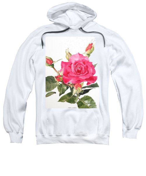 Watercolor Red Rose Margaret Sweatshirt