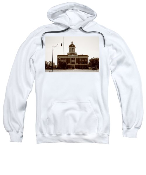 Sweatshirt featuring the photograph Route 66 - Beckham County Courthouse by Frank Romeo