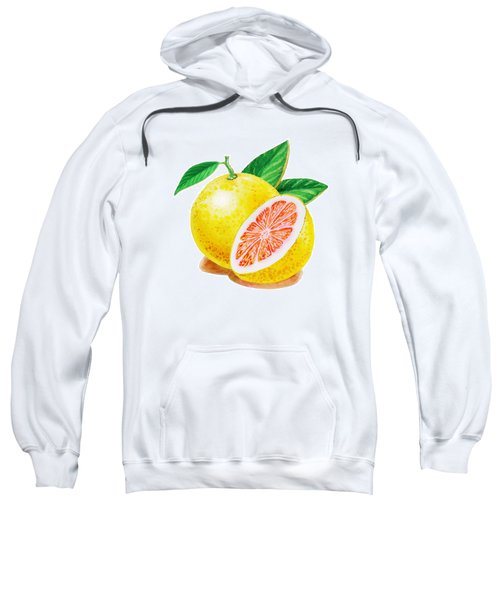 Ruby Red Grapefruit Sweatshirt by Irina Sztukowski