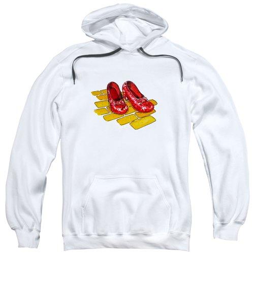 Ruby Slippers The Wizard Of Oz  Sweatshirt