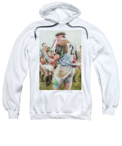 Rugby Match Harlequins V Northampton, Brian Moore At The Line Out, 1992 Wc Sweatshirt