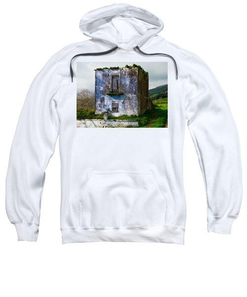 Ruins Of House Painted Blue Sweatshirt