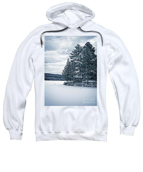 Rustic Cabin On The Pond Sweatshirt