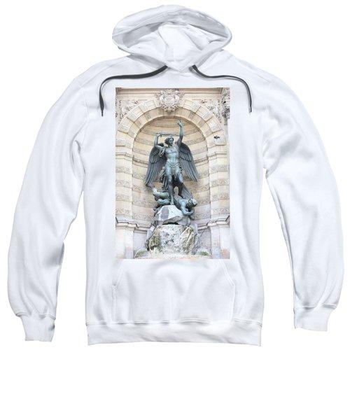 Saint Michael The Archangel In Paris Sweatshirt