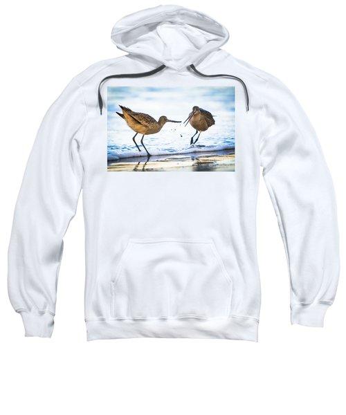 Sanderlings Playing At The Beach Sweatshirt