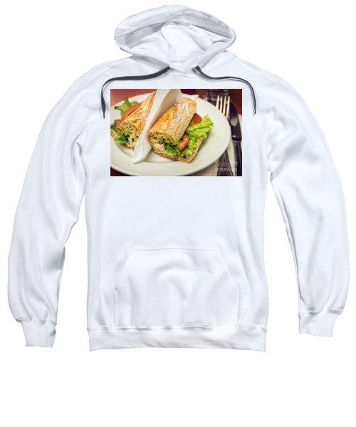 Sandwish On Table Sweatshirt by Carlos Caetano