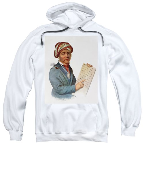 Se-quo-yah Or George Guess, 1828, Illustration From The Indian Tribes Of North America, Vol.1 Sweatshirt