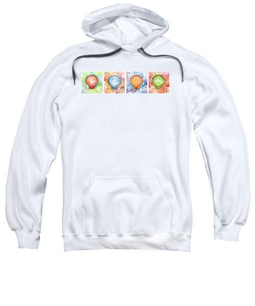 Sea Shells In Contrast Sweatshirt