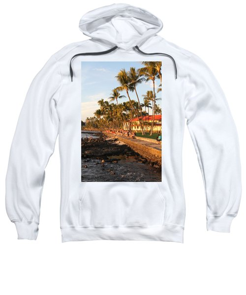 Seawall At Sunset Sweatshirt