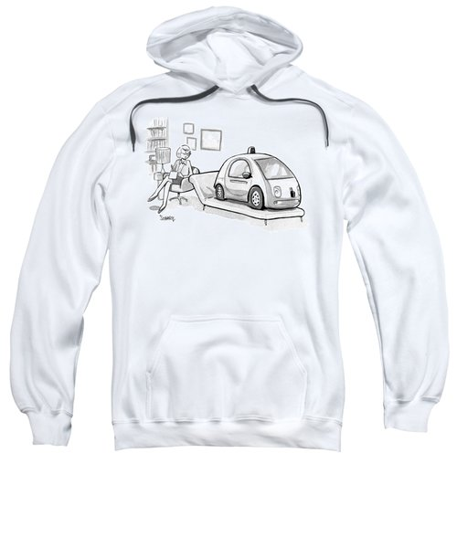 Self Driving Car In Therapist's Office Sweatshirt
