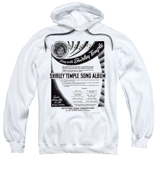 Shirley Temple Song Album Sweatshirt by Mel Thompson