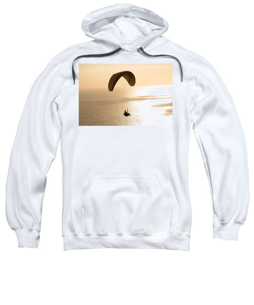 Silhouette Of A Paraglider Flying Sweatshirt