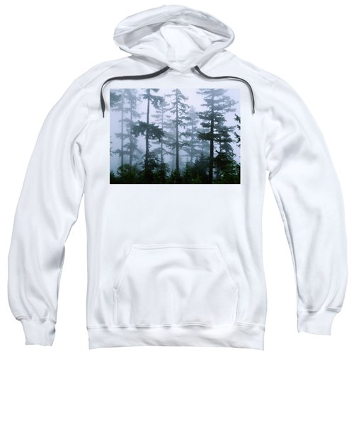 Silhouette Of Trees With Fog Sweatshirt
