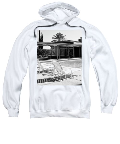 Sinatra Pool Bw Palm Springs Sweatshirt