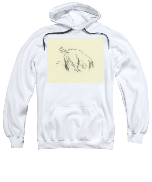 Sketch Of A Dog Digging A Hole Sweatshirt