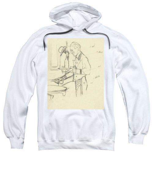 Sketch Of Waiter Pouring Wine Sweatshirt