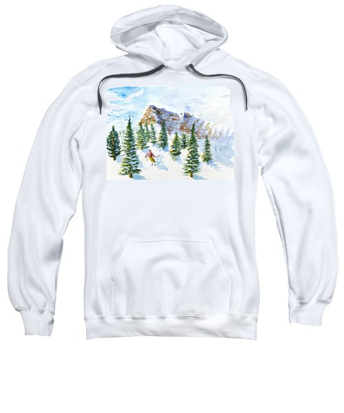 Skier In The Trees Sweatshirt