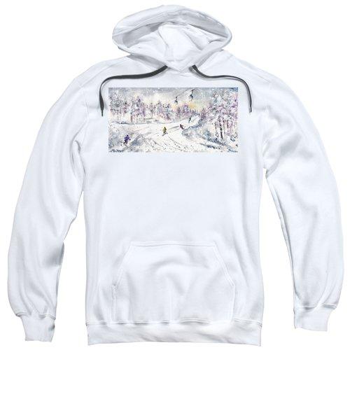 Skiing In The Dolomites In Italy 01 Sweatshirt