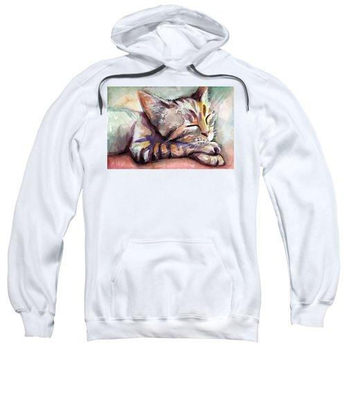 Sleeping Kitten Sweatshirt by Olga Shvartsur