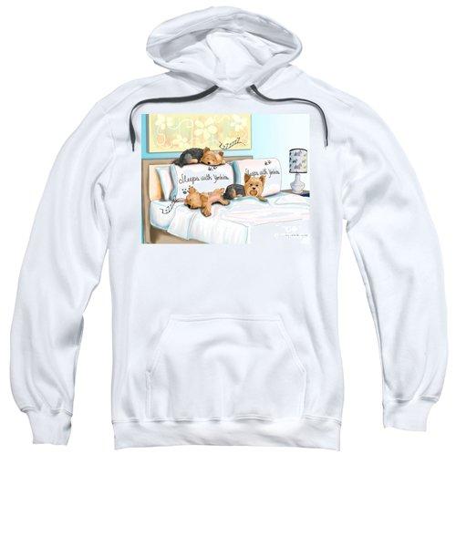 Sleeps With Yorkies Sweatshirt
