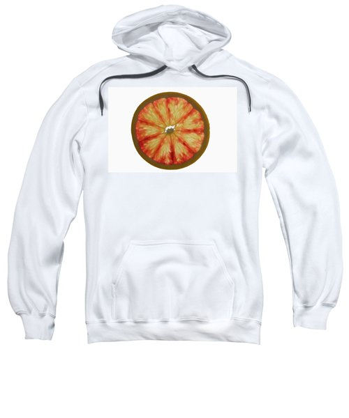 Slice Of Grapefruit, Backlit Sweatshirt