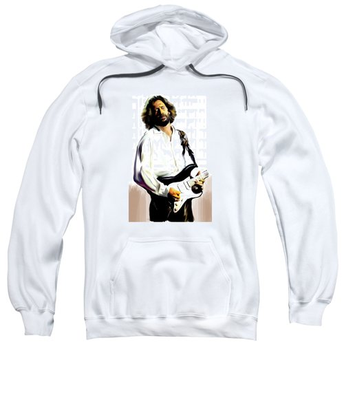 Slow Hand  Eric Clapton Sweatshirt by Iconic Images Art Gallery David Pucciarelli
