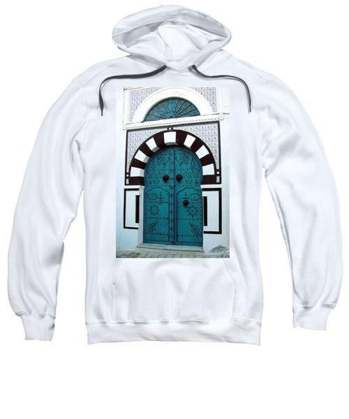 Smiling Moon Door Sweatshirt