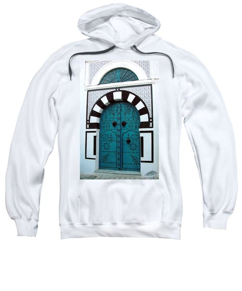 Smiling Moon Door Sweatshirt
