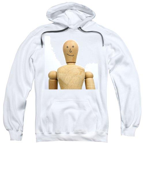 Smiling Wooden Figurine Sweatshirt