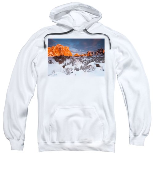 Smith Rock Snow Storm Sweatshirt