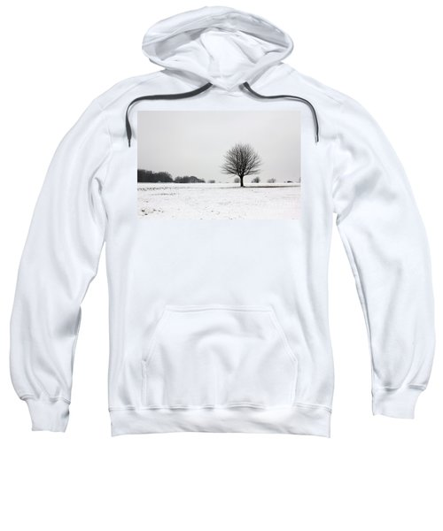 Snow On Epsom Downs Surrey England Uk Sweatshirt