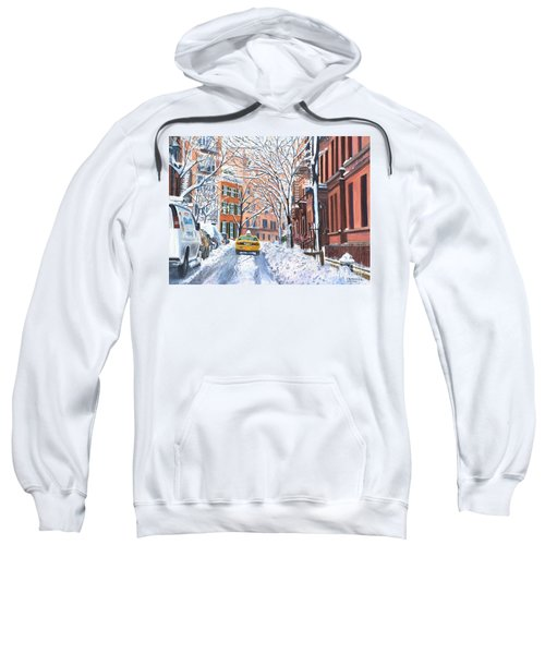 Snow West Village New York City Sweatshirt
