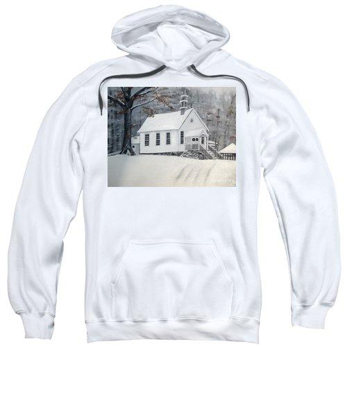 Snowy Gates Chapel  -little White Church - Ellijay Sweatshirt