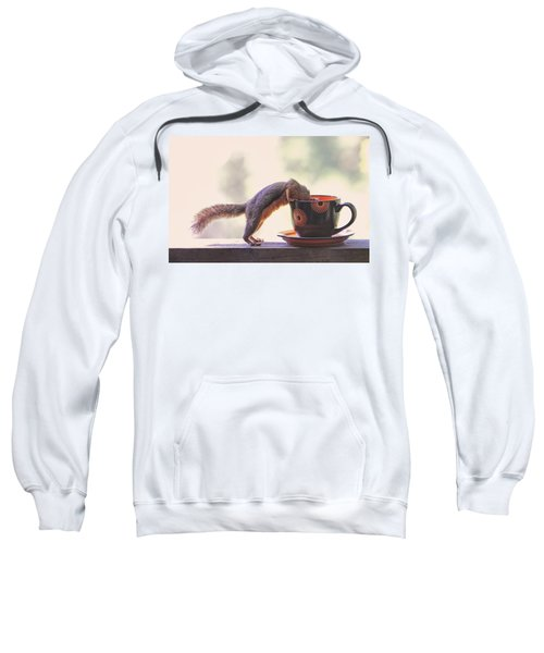 Squirrel And Coffee Sweatshirt