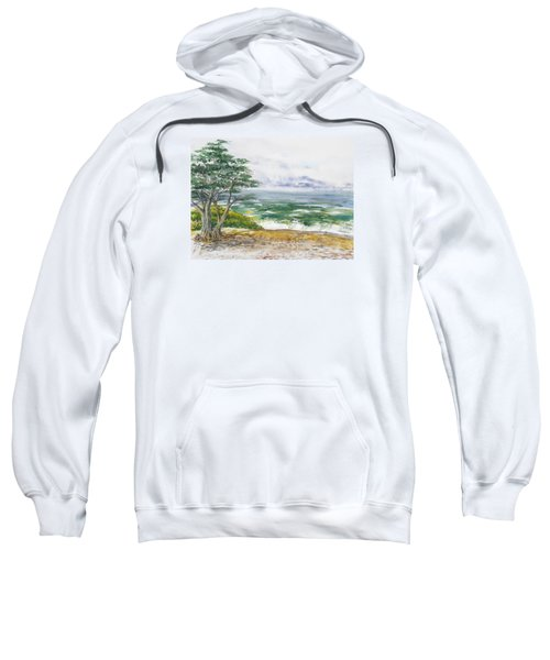 Stormy Morning At Carmel By The Sea California Sweatshirt
