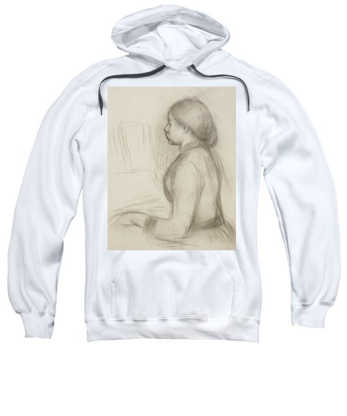 Study Of A Young Girl At The Piano Sweatshirt