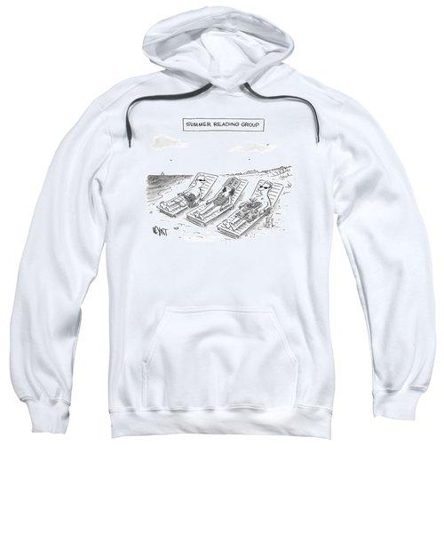 Summer Reading Group -- Three Beach Goers Lounge Sweatshirt