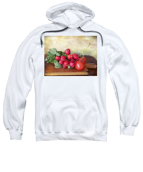 Summer Vegetables On Chopping Board Sweatshirt