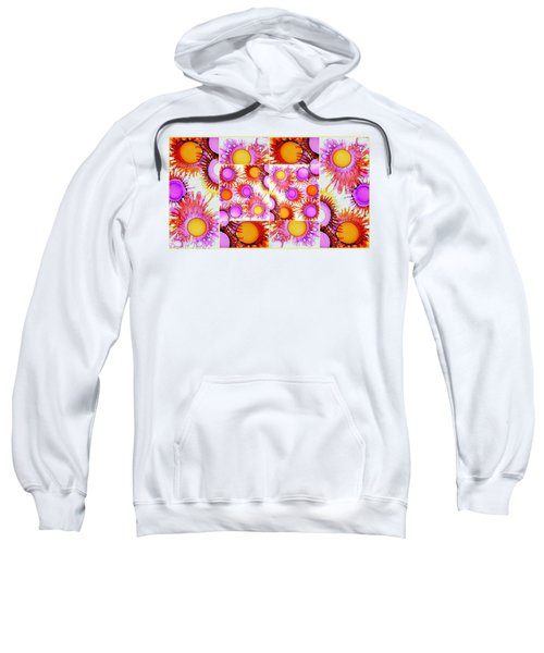 Sunny Happy Abstract Alcohol Inks Collage Sweatshirt